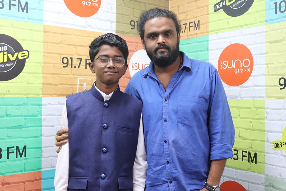 RJ Appunni with Adhithyan Rajesh