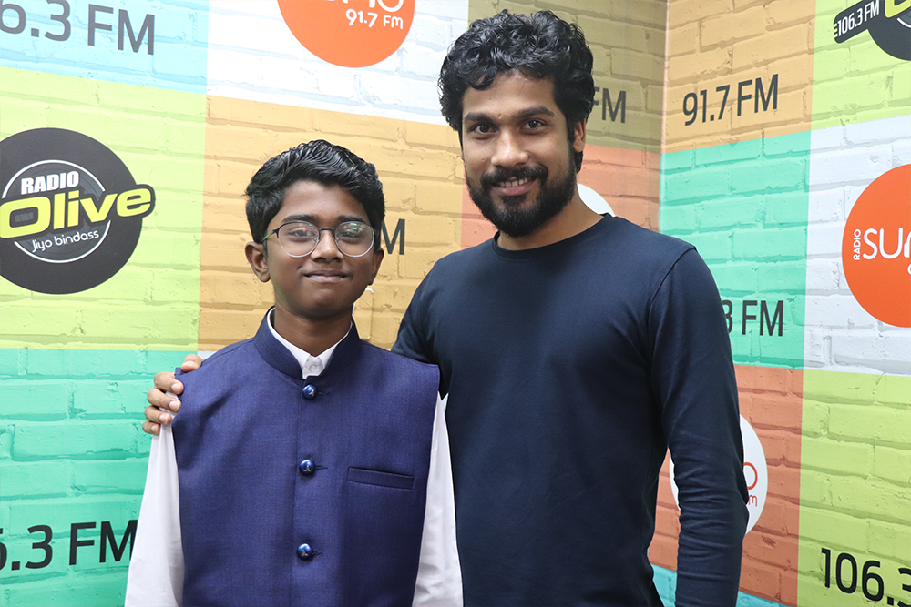 RJ Syed with Adhithyan Rajesh