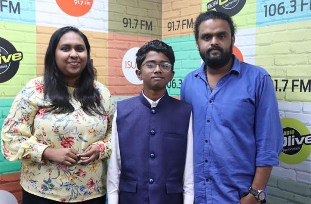 RJ Appunni with Adhithyan Rajesh along with RJ Nisa